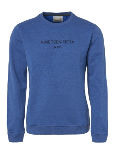 NO-EXCESS sweater CREWNECK SWEATER WITH LOGO 94131152 135 Royal