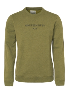 NO-EXCESS sweater CREWNECK SWEATER WITH LOGO 94131152 152 Moss