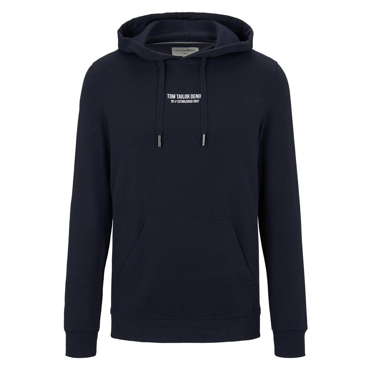 hoodie met print 1016329xx12 tom tailor sweater 10668
