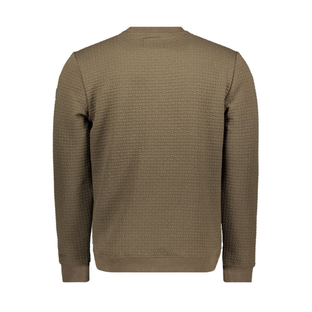 crewneck jacquard sweater 92100815 no-excess sweater 059 dk army