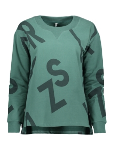 Zoso sweater ALDA SWEATER WITH ALLOVER 195 FOREST/MIDGREEN