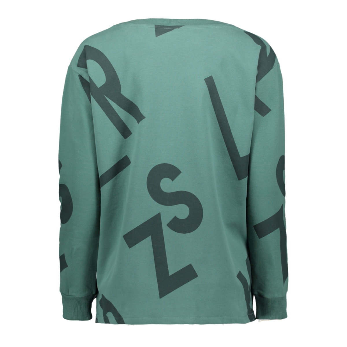 alda sweater with allover 195 zoso sweater forest/midgreen