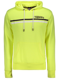 Superdry sweater SPORT STRIPE HOOD M2010103B NEON YELLOW