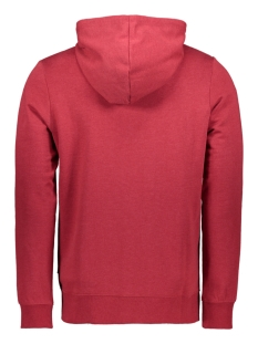 jcostrong sweat zip hood 12165714 jack & jones vest rio red/melange