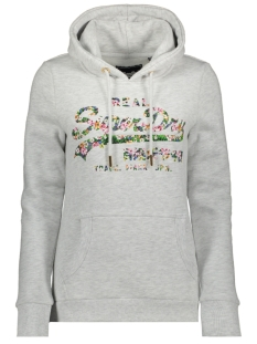 Superdry sweater FLORAL ENTRY HOOD W2010038A ICE MARL