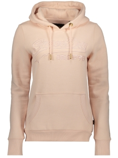Superdry sweater OUTLINE ENTRY HOOD W2010080B PEACH WHIP