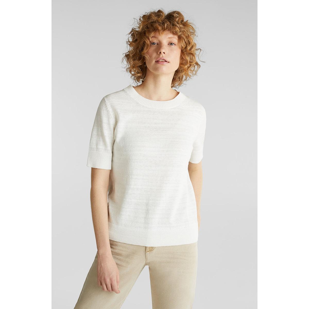 trui met korte mouwen en een basic look 030ee1i302 esprit t-shirt e110
