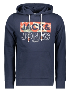 Jack & Jones sweater JORTROPIC SWEAT HOOD 12164450 Navy Blazer/JJ SLIM