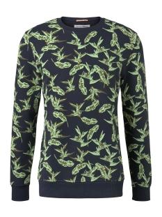 sweatshirt met tropische print 1019077xx12 tom tailor sweater 23729