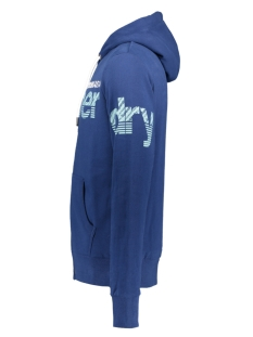 zip hood ub m2010061b superdry vest pilot mid blue