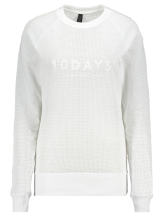 10 Days sweater SWEATER MESH 20 803 0201 WHITE