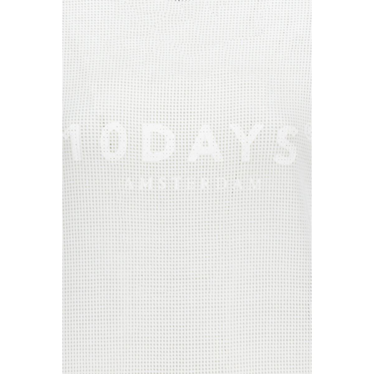 sweater mesh 20 803 0201 10 days sweater white