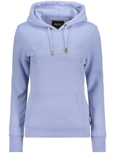 Superdry sweater VL EMB OUTLINE ENTRY HOOD BR W2010080B BLUE HERON