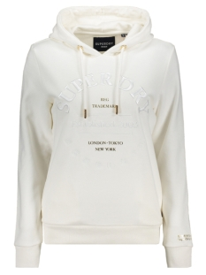 Superdry sweater APPLIQUE SERIF HOOD W2010098A BUTTERCREAM