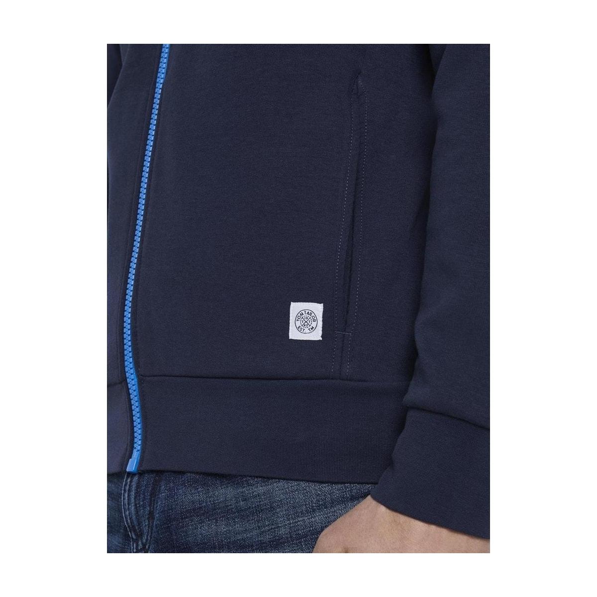 sweatjack met opstaande kraag 1018300xx10 tom tailor vest 10334