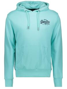 Superdry sweater VL PASTELINE HOOD M2010214A POOL BLUE
