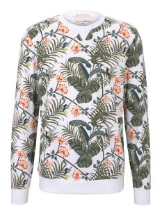 Tom Tailor sweater SWEATSHIRT MET TROPISCHE PRINT 1019077XX12 23108