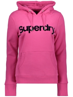 Superdry sweater CL FLOCK HOOD W2010381A HOT PINK