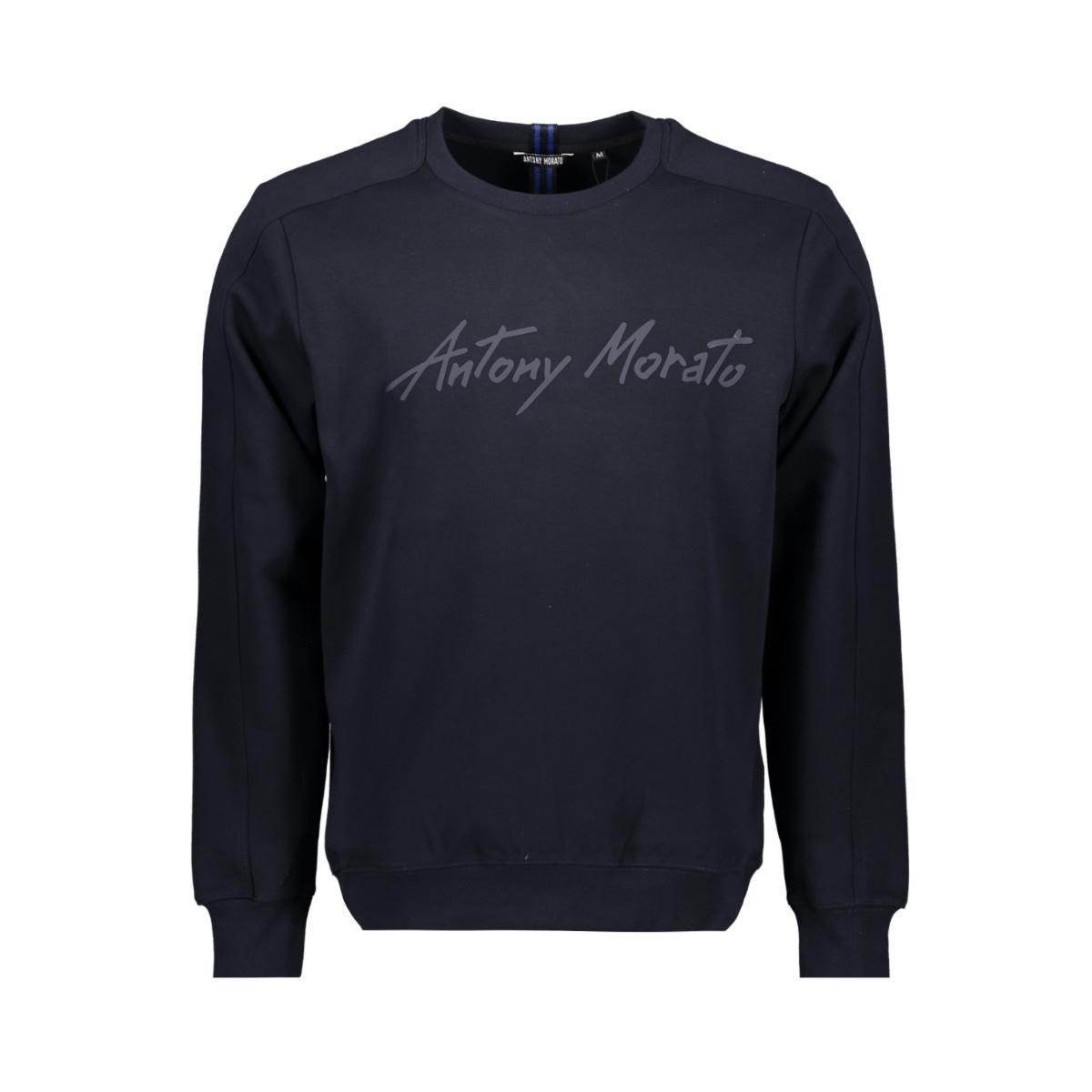 fleece mmfl00721 antony morato sweater 7073 blue ink