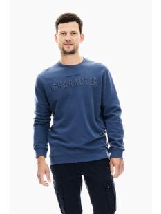 Garcia sweater TRUI MET TEKST PRINT T01264 2614 STORM BLUE