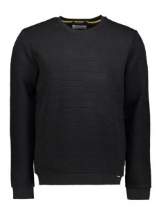 NO-EXCESS Trui CREWNECK FANCY JACQUARD SWEATER 97100718 020 BLACK