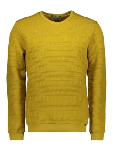 NO-EXCESS Trui CREWNECK FANCY JACQUARD SWEATER 97100718 073 GOLD