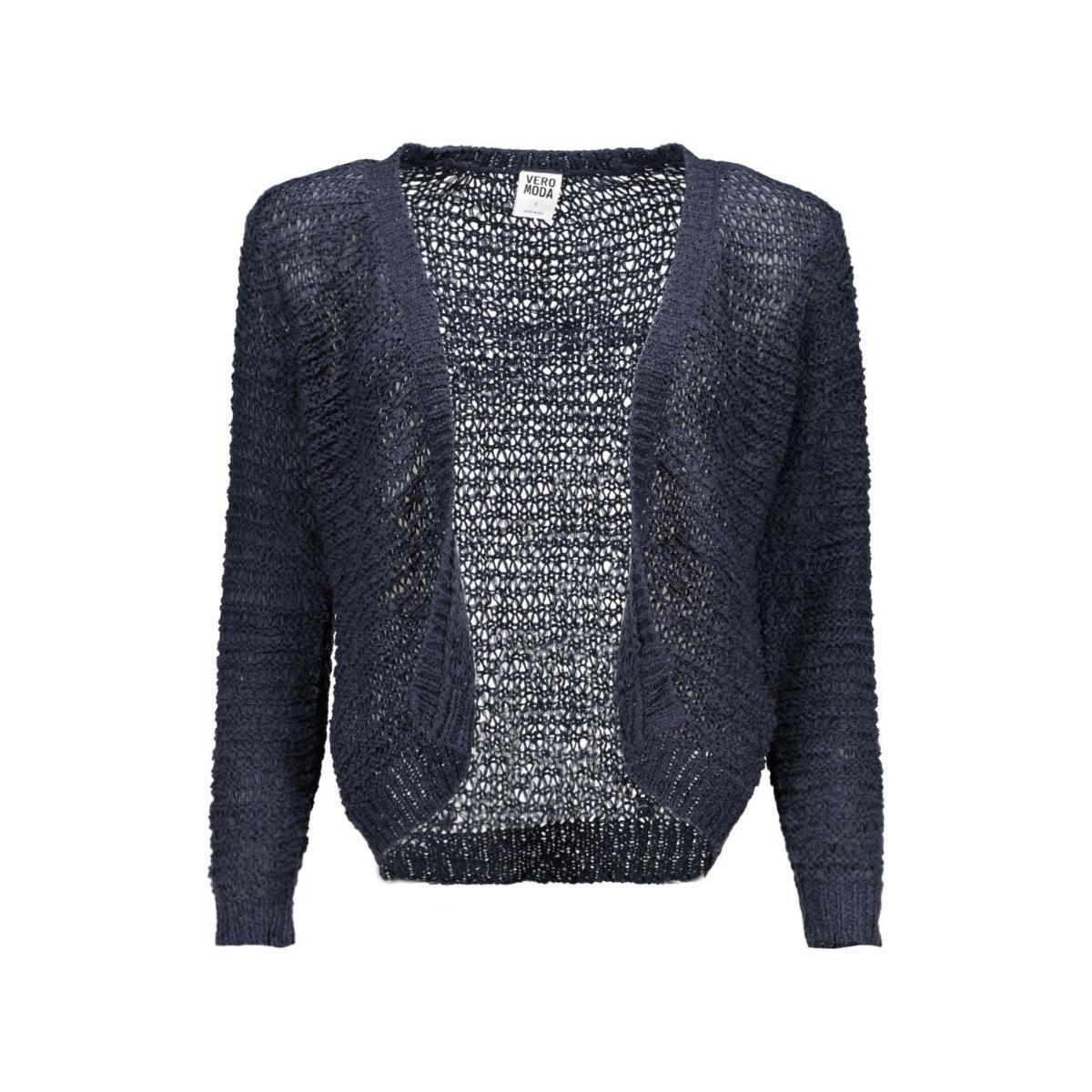 vmverla 3/4 short cardigan 10127605 vero moda bolero black iris