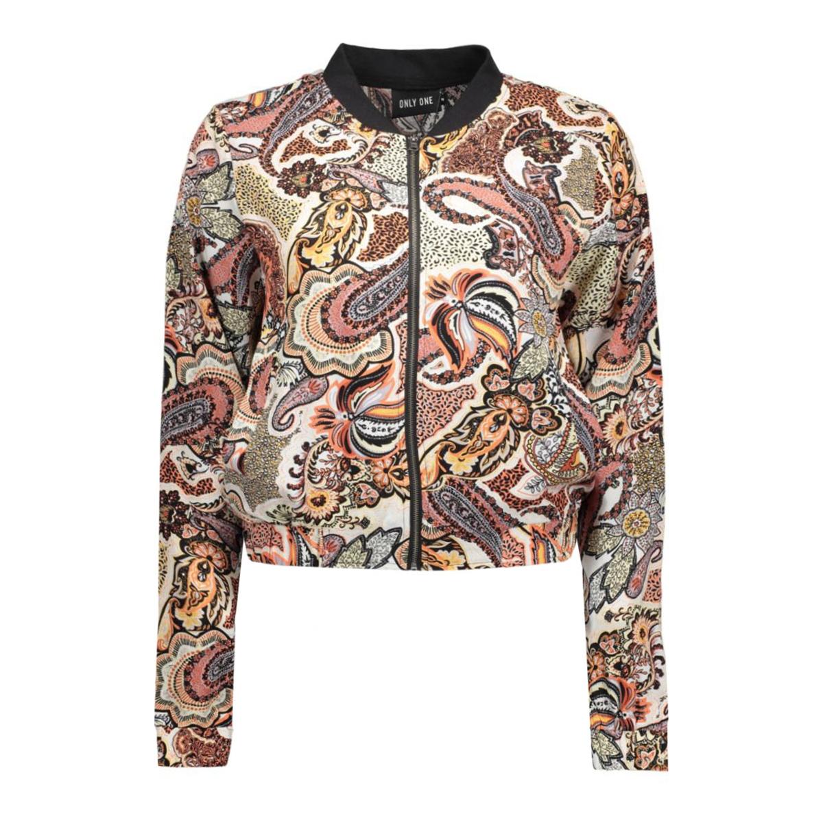 onlmulti cropped l/s bomber jacket 15124481 only jas cloud dancer/paisley