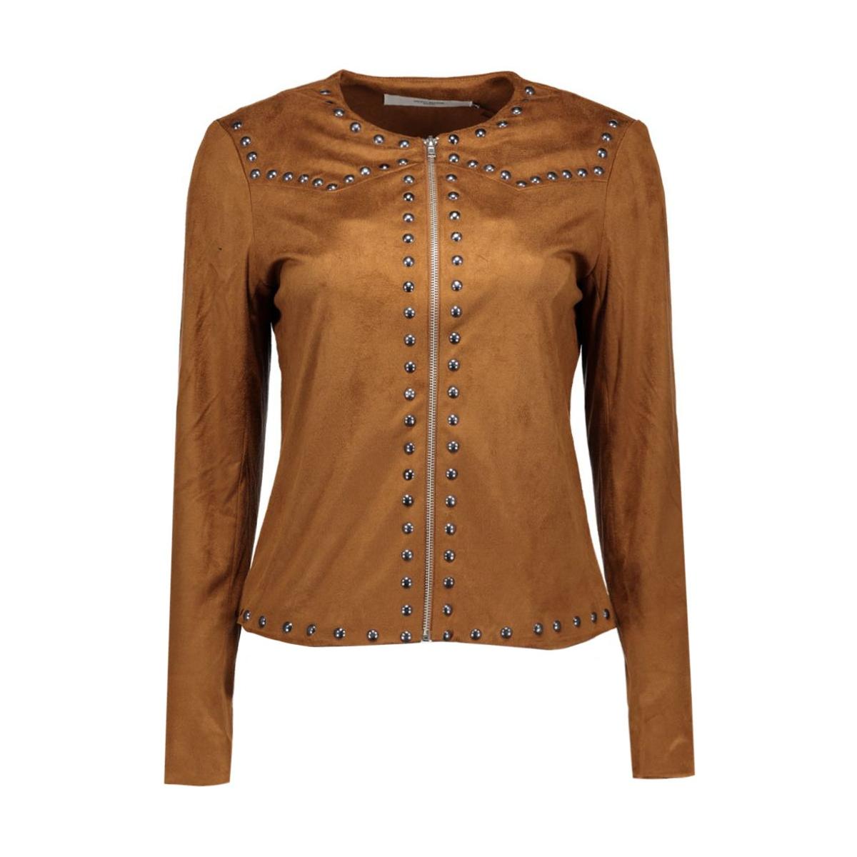 vmchloe fake suede jacket v 10161940 vero moda jas cognac