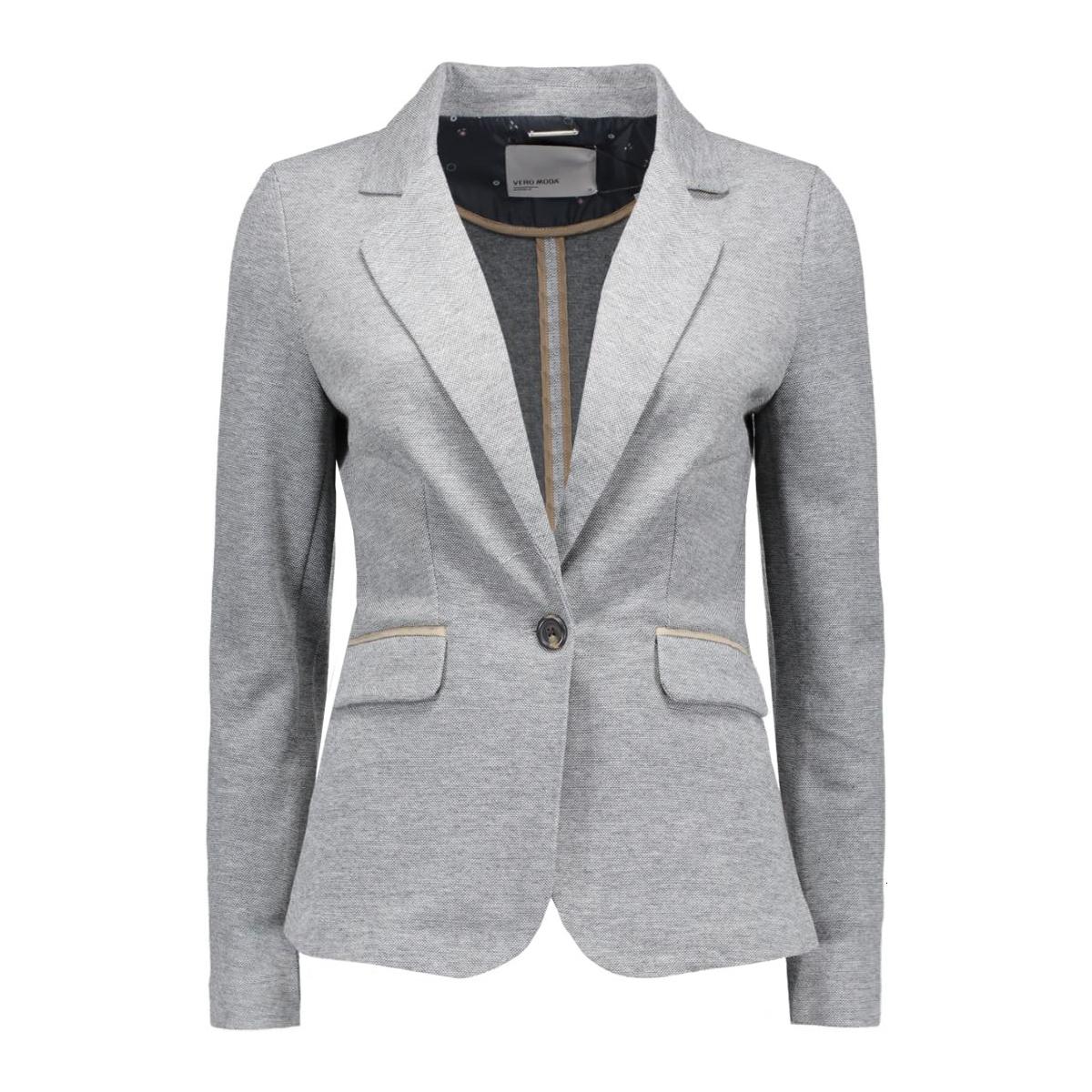 vmjuly suede ls blazer 10158270 vero moda blazer dark grey melange
