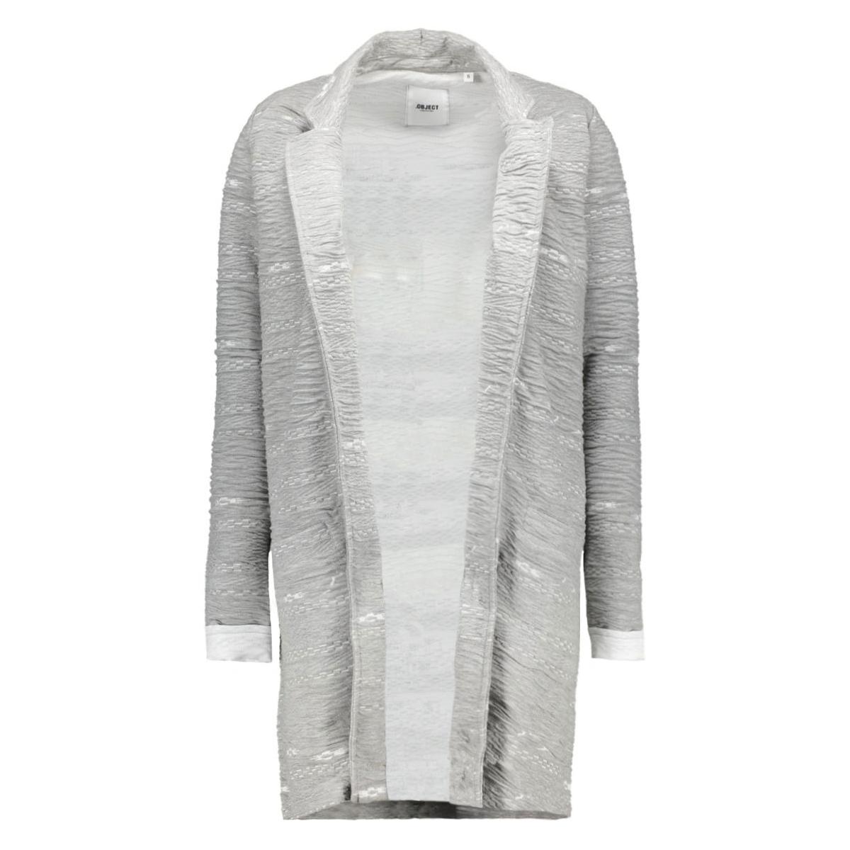 objestha long l/s blazer 23023025 object vest light grey melange