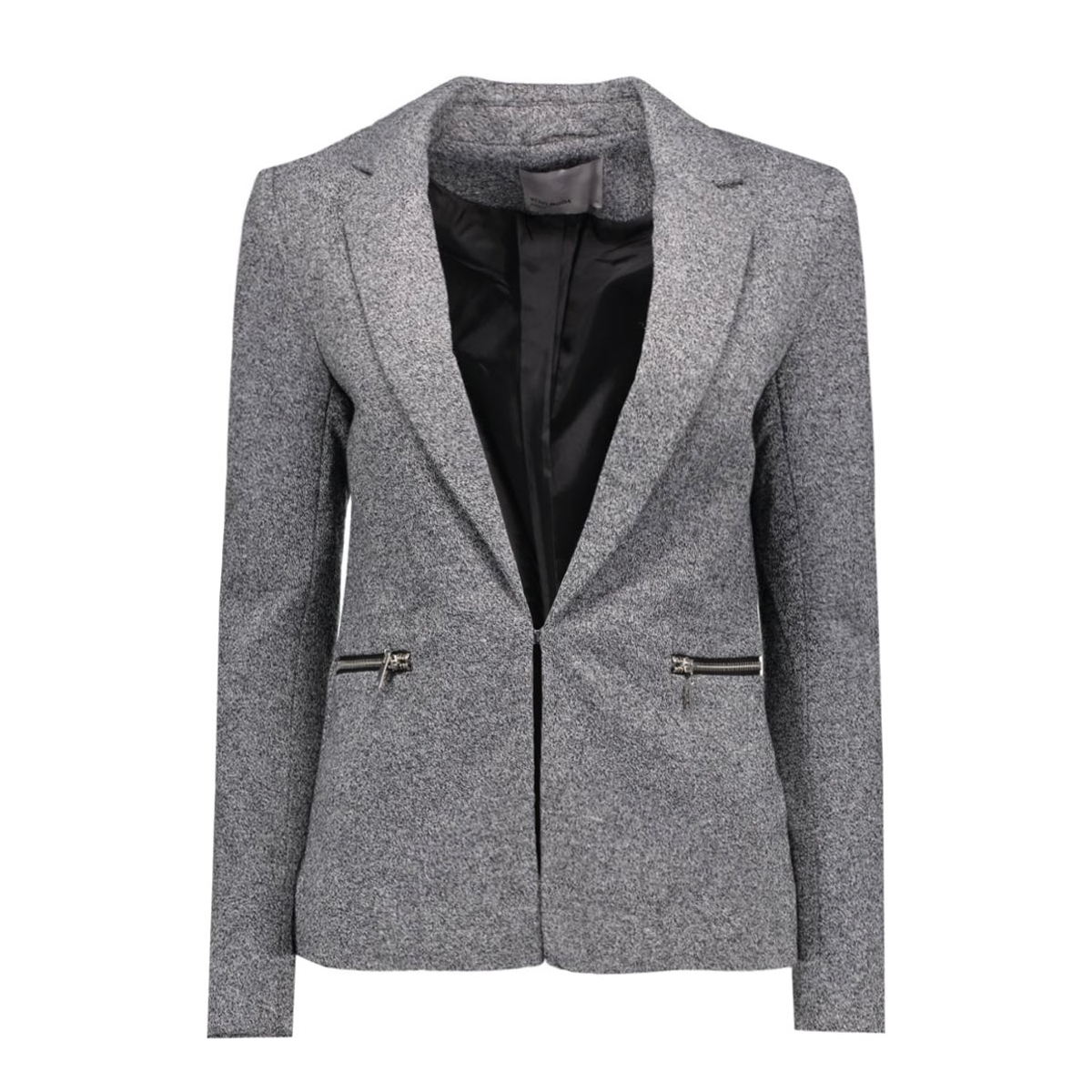 vmnew victoria ls blazer noos 10159058 vero moda blazer dark grey melange