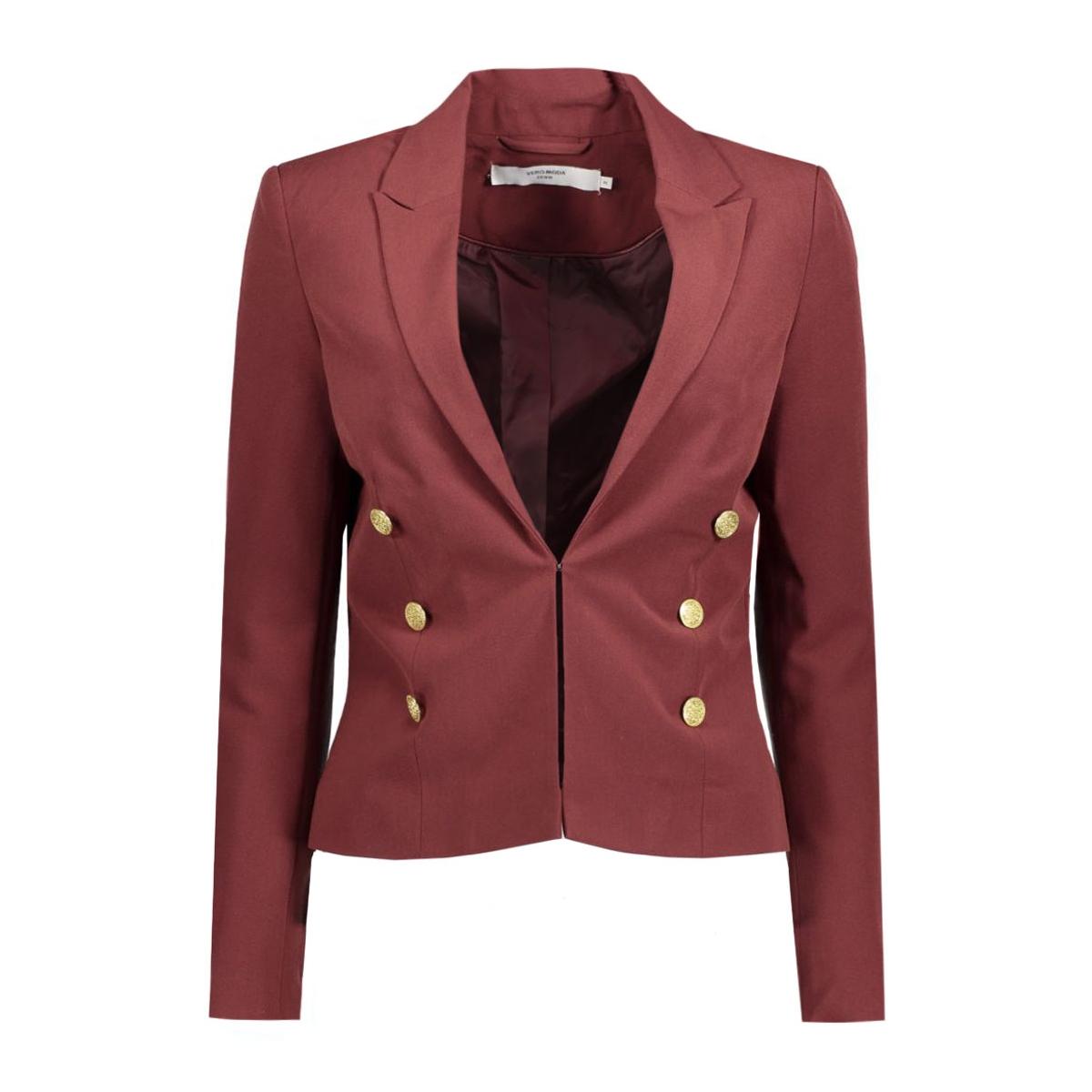 vmdana l/s blazer dnm a 10161971 vero moda blazer decadent chocolate