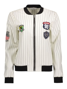 Only Jas onlLANO PATCH L/S BOMBER WVN 15132479 White