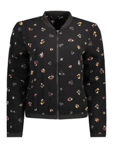 onlnova lux aop bomber jacket wvn 15128516 only jas black/punk heart