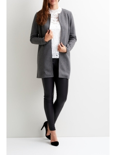 vinaja new long jacket - noos 14038000 vila vest medium grey melange