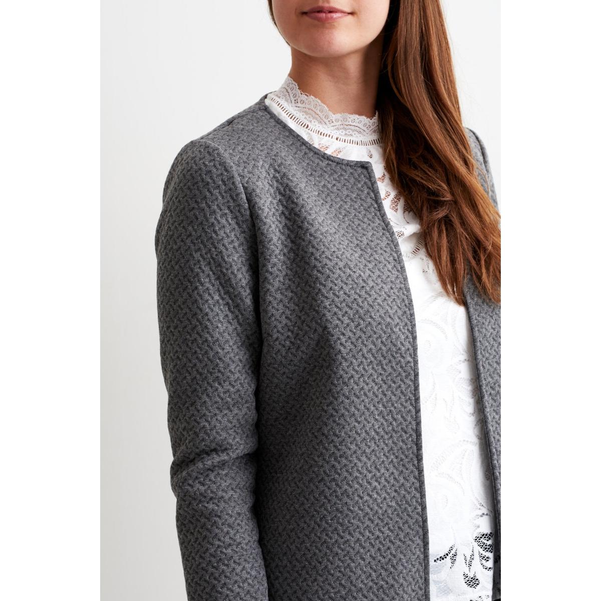 vinaja new long jacket - noos 14038000 vila vest medium grey melange