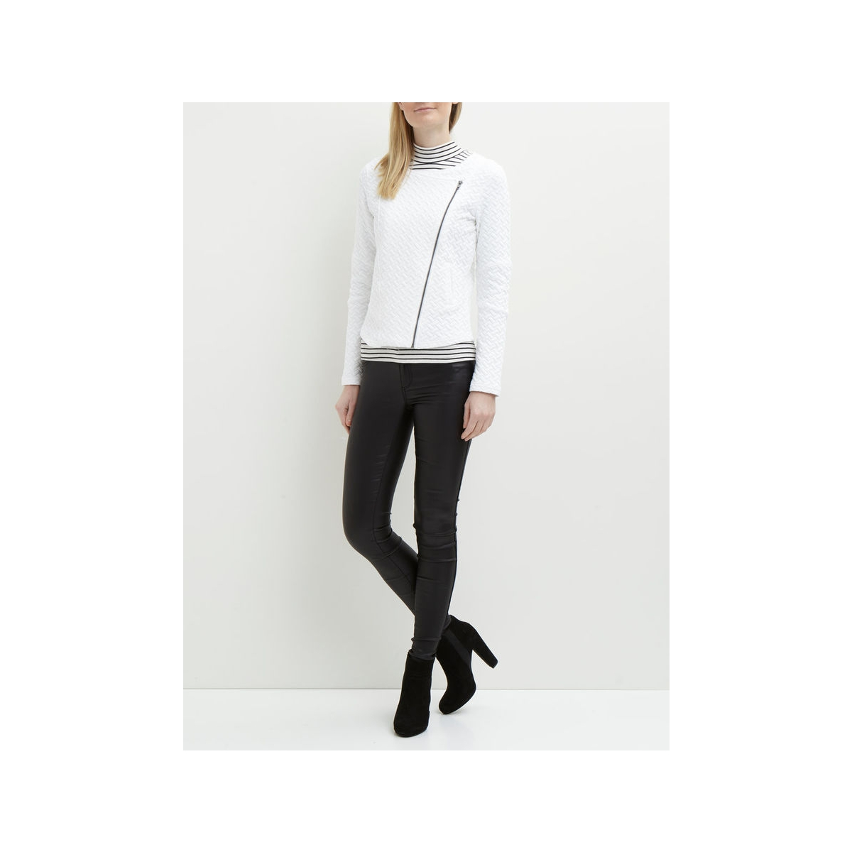 objcamden courtney l/s blazer noos 23023817 object vest white