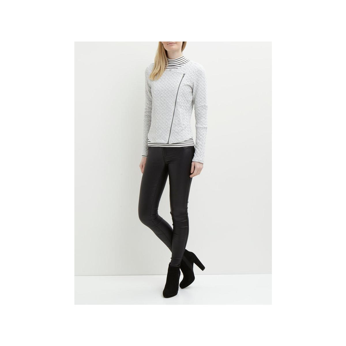 objcamden courtney l/s blazer noos 23023817 object vest light grey melange