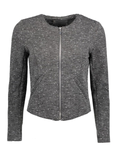 vmstruc-anna w/l blazer 10176257 vero moda blazer medium grey melange
