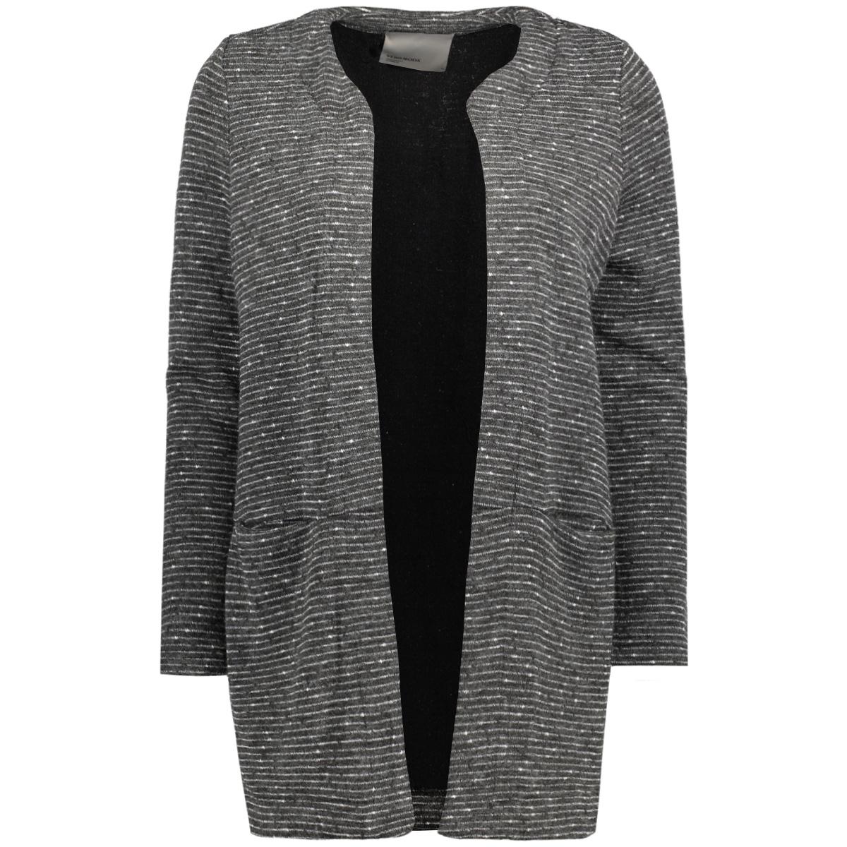 vmstruc-anna 7/8 long blazer 10174569 vero moda blazer medium grey melange