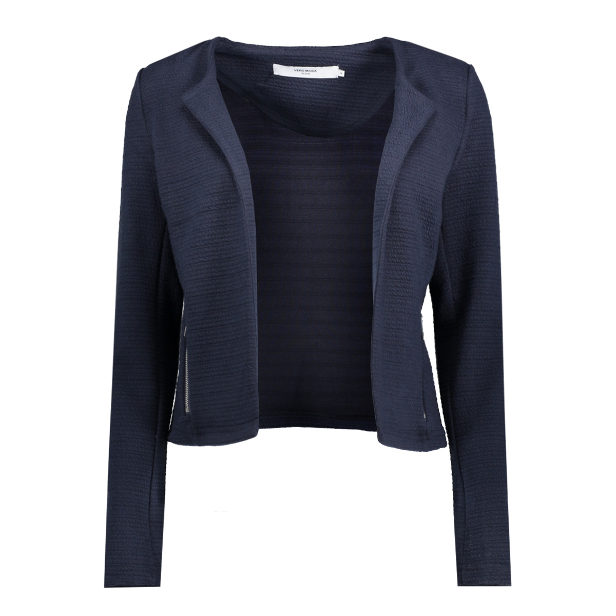 vmstruc-navy3 blazer dnm 10178204 vero moda blazer navy blazer/silver zip