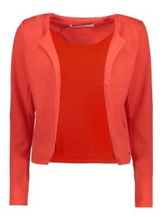 vmstruc-navy3 blazer dnm 10178204 vero moda blazer hibiscus/ silver zip