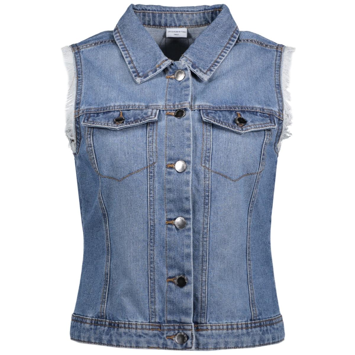 jdyashley denim waistcoat dnm 15133206 jacqueline de yong gilet light blue denim