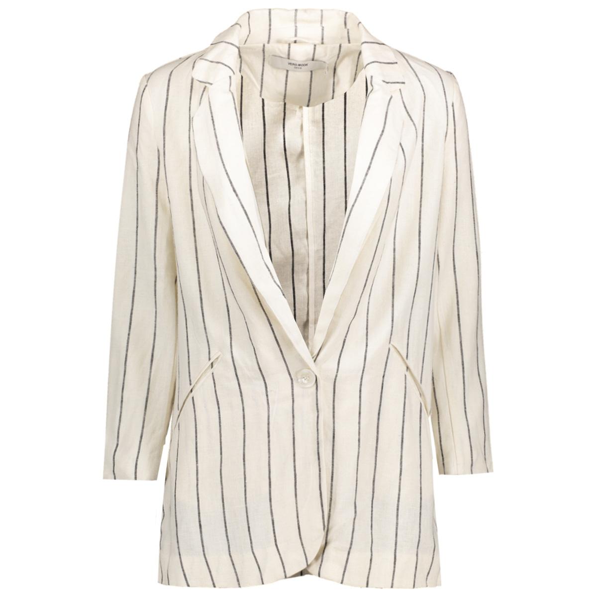 vmnaja 7/8 blazer dnm 10174743 vero moda blazer snow white/black