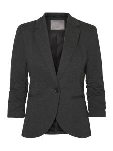 vmsparkle 3/4 blazer nfs rep 10191153 vero moda blazer dark grey melang/lining bla
