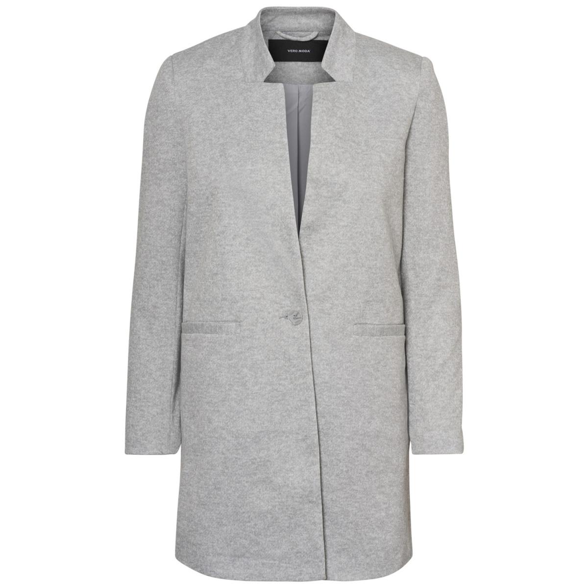 vmjune w/l long blazer dnm rep 10191507 vero moda blazer light grey melange