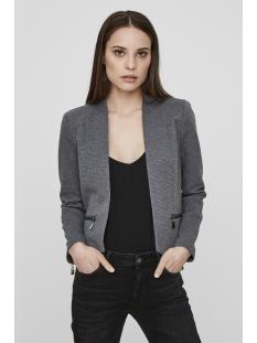 vmmajay l/s short blazer dnm rep 10191155 vero moda blazer medium grey melange/ lining