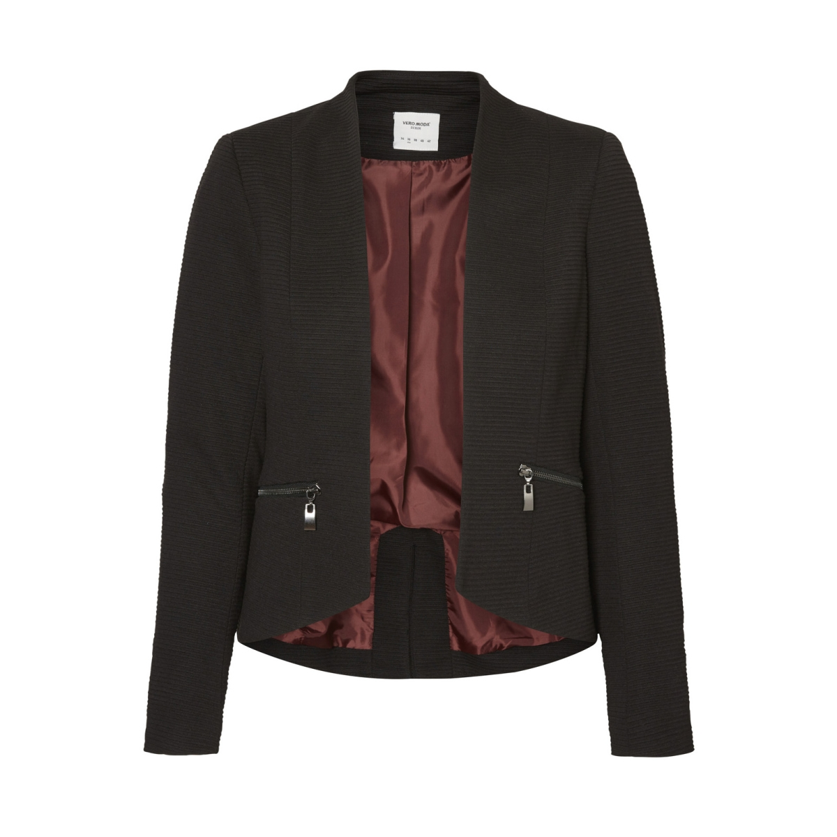 vmmajay l/s short blazer dnm rep 10191155 vero moda blazer black/ lining