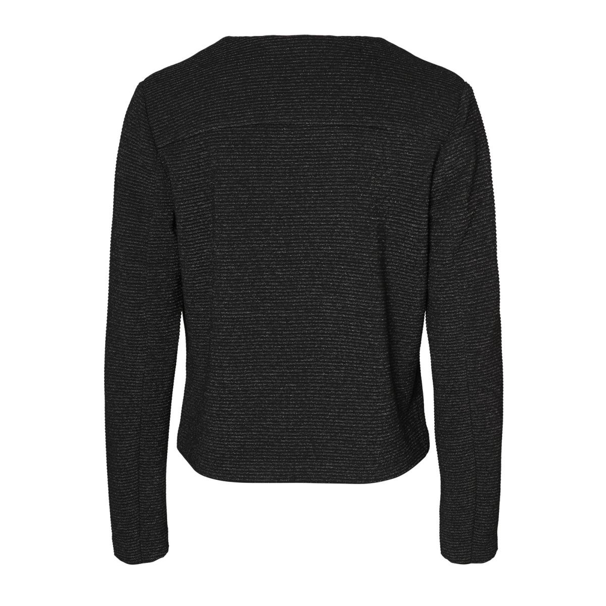 vmeva ls blazer jrs 10187830 vero moda vest black/white silver